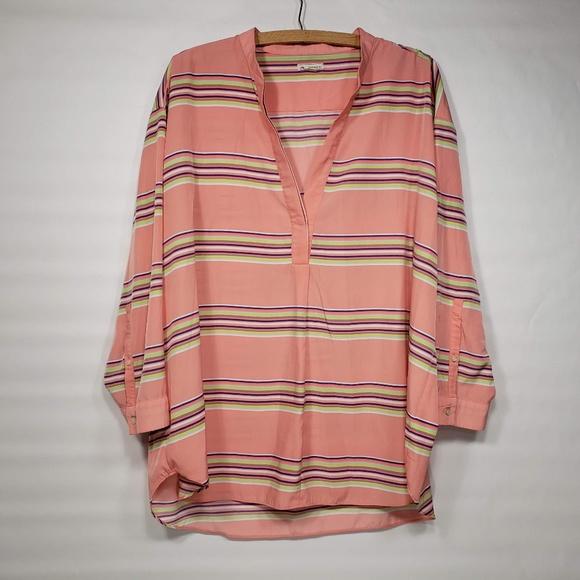 054ac11de1de3c GAP Tops | Womens Long Sleeve Salmon Shirt Xl | Poshmark